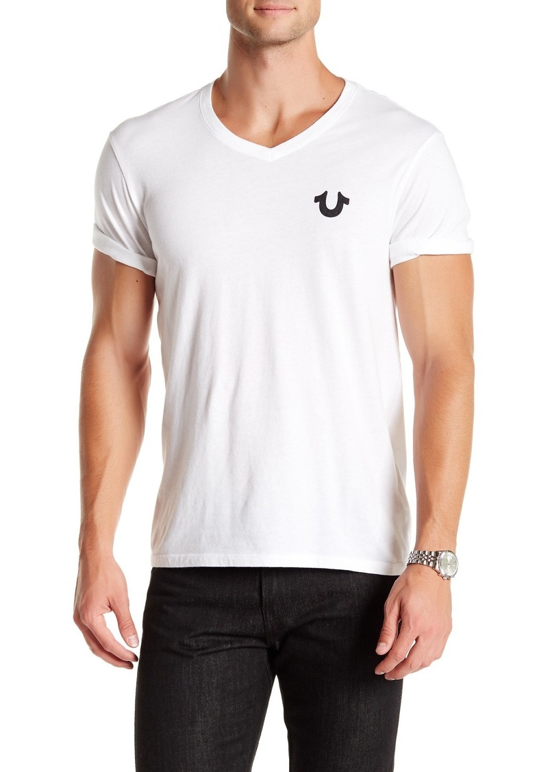 True Religion Solid Logo V-Neck T-Shirt