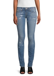 True Religion Splatter Skinny Jeans