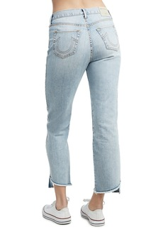 True Religion Starr High Rise Crop Straight Leg Jeans