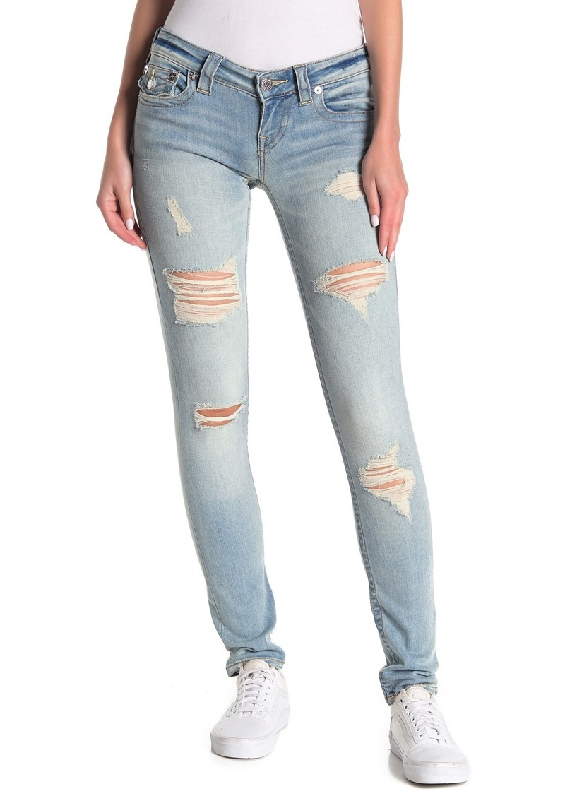 True Religion Stella Destroyed Low Rise Skinny Jeans