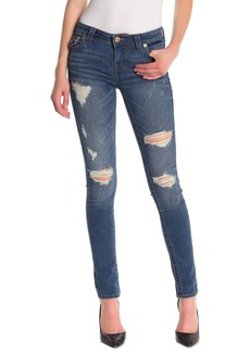 True Religion Stella Distressed Flap Pocket Skinny Jeans