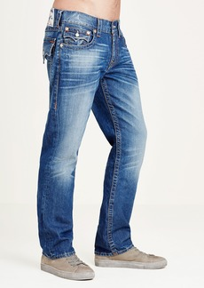 True Religion STRAIGHT FIT ORANGE STITCH JEAN