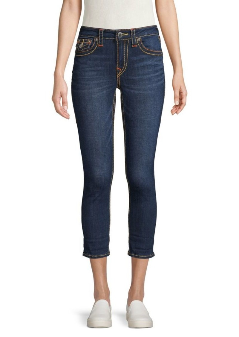 True Religion Stretch Cropped Jeans