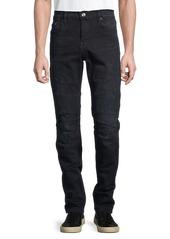 True Religion Stripe Mid-Rise Skinny-Fit Jeans