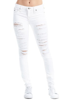 True Religion Super Skinny Flap-Pocket Distressed Jeans