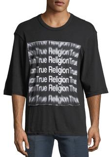 True Religion 3D Graphic Oversized T-Shirt