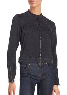 True Religion Active Long Sleeve Cotton-Blend Jacket