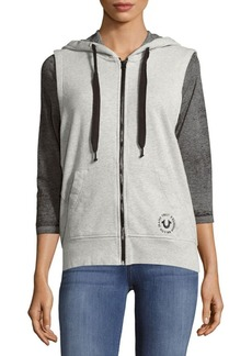 True Religion Active Zip Cotton Hoodie Vest