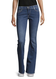 True Religion Becca Super Bell-Bottom Jeans/Blue