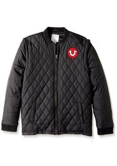 True Religion Boys' Big Quilted Jacket  L