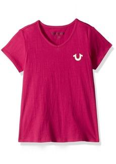 True Religion Big Girls' Fashion Short Sleeve Tee Shirt  XL