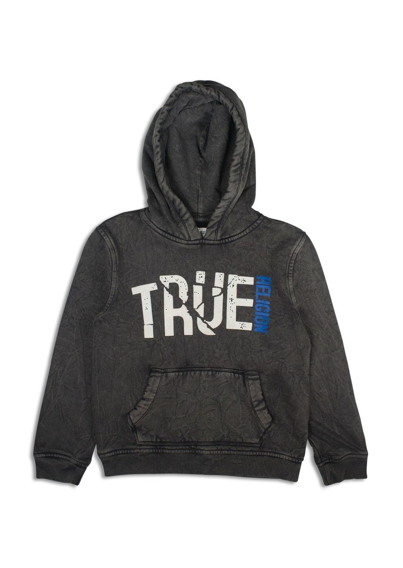 True Religion Boys' Crinkle Look Shattered Logo Hoodie - Sizes S-XL