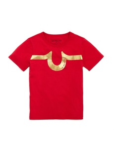 True Religion Boys' Metallic Logo Tee - Little Kid, Big Kid