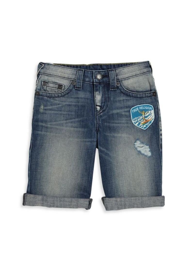 True Religion Toddler's & Little Boy's Ricky Patch Detail Denim Shorts