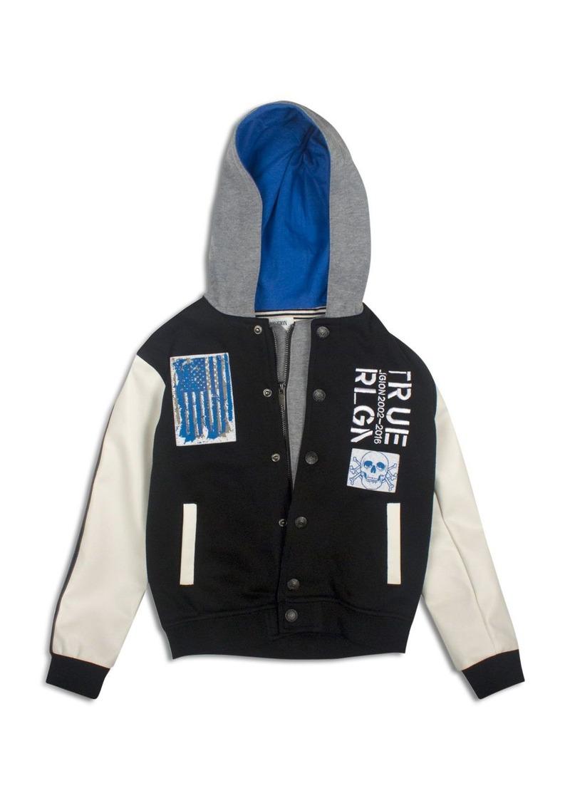 True Religion Boys' Punk Hooded Varsity Jacket - Sizes 8-18
