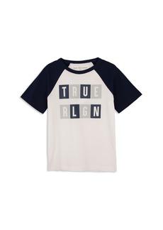 True Religion Boys' Raglan Logo Tee - Little Kid