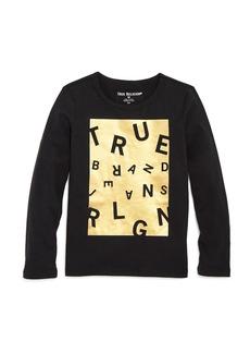 True Religion Boys' Scrambled Logo Tee - Little Kid, Big Kid