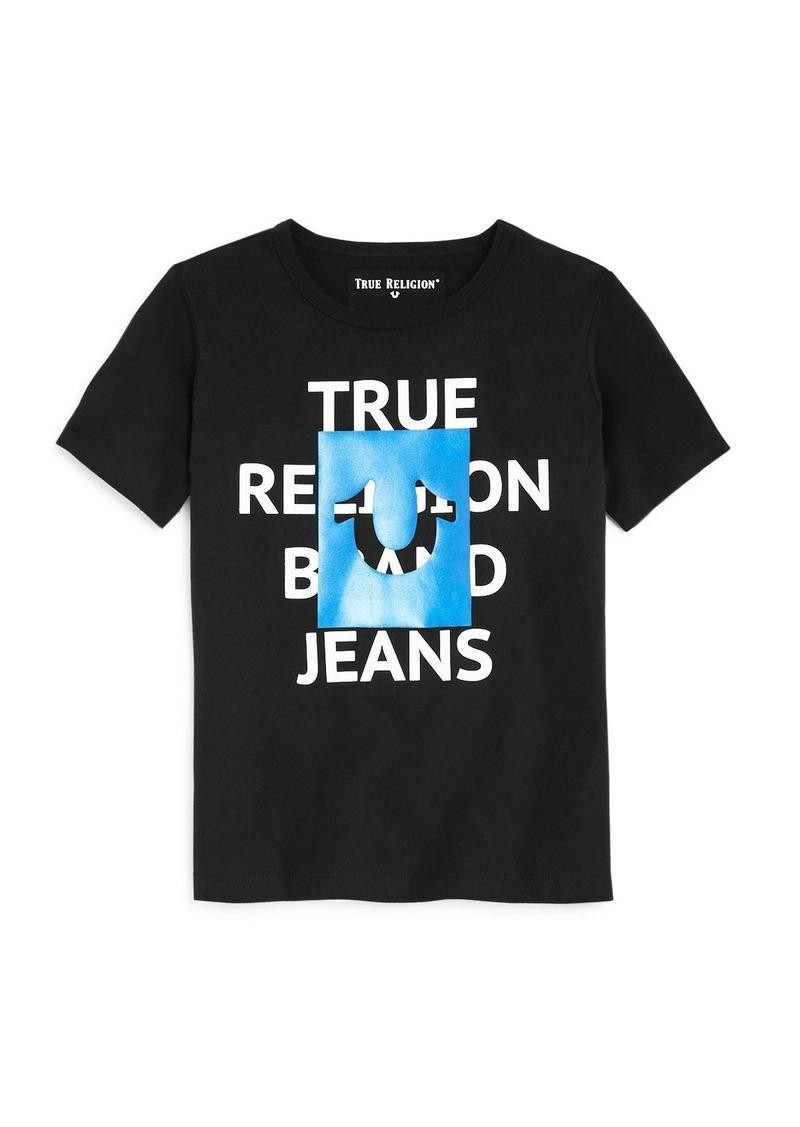 True Religion Boys' Square Logo Tee - Little Kid, Big Kid