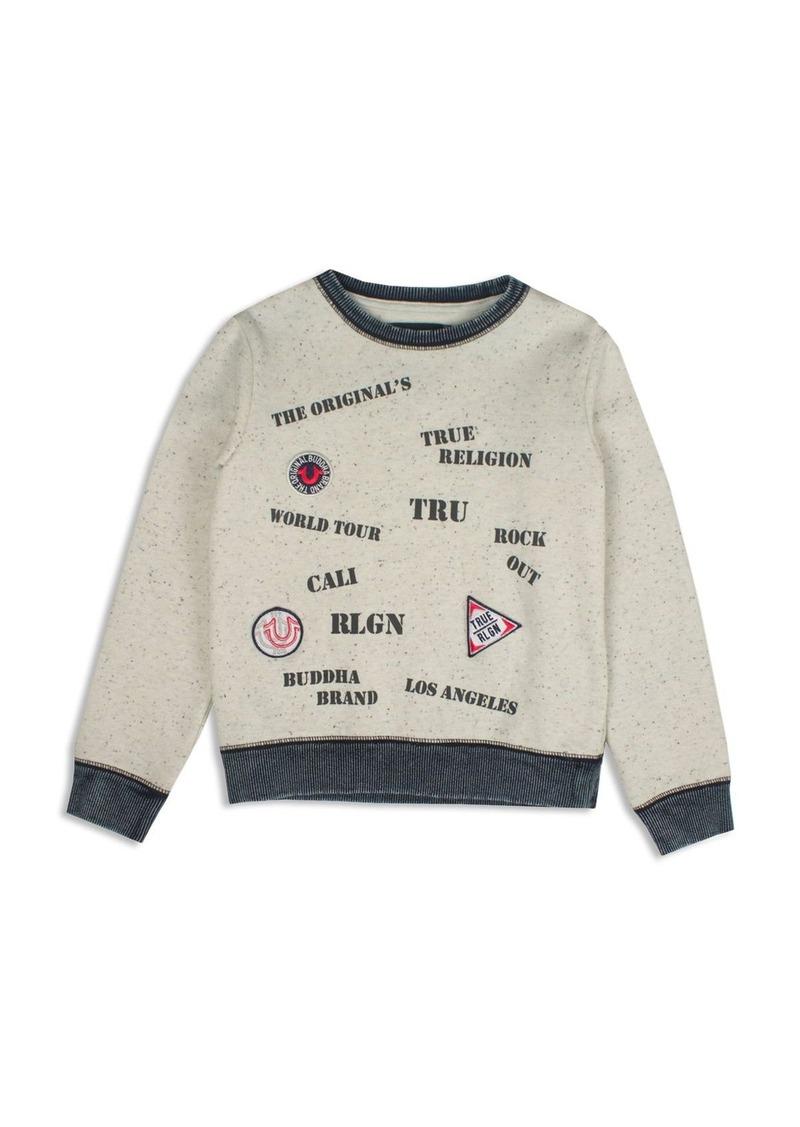 True Religion Boys' Stencil Screen & Appliqu�d Signature Sweatshirt - Sizes 8-18