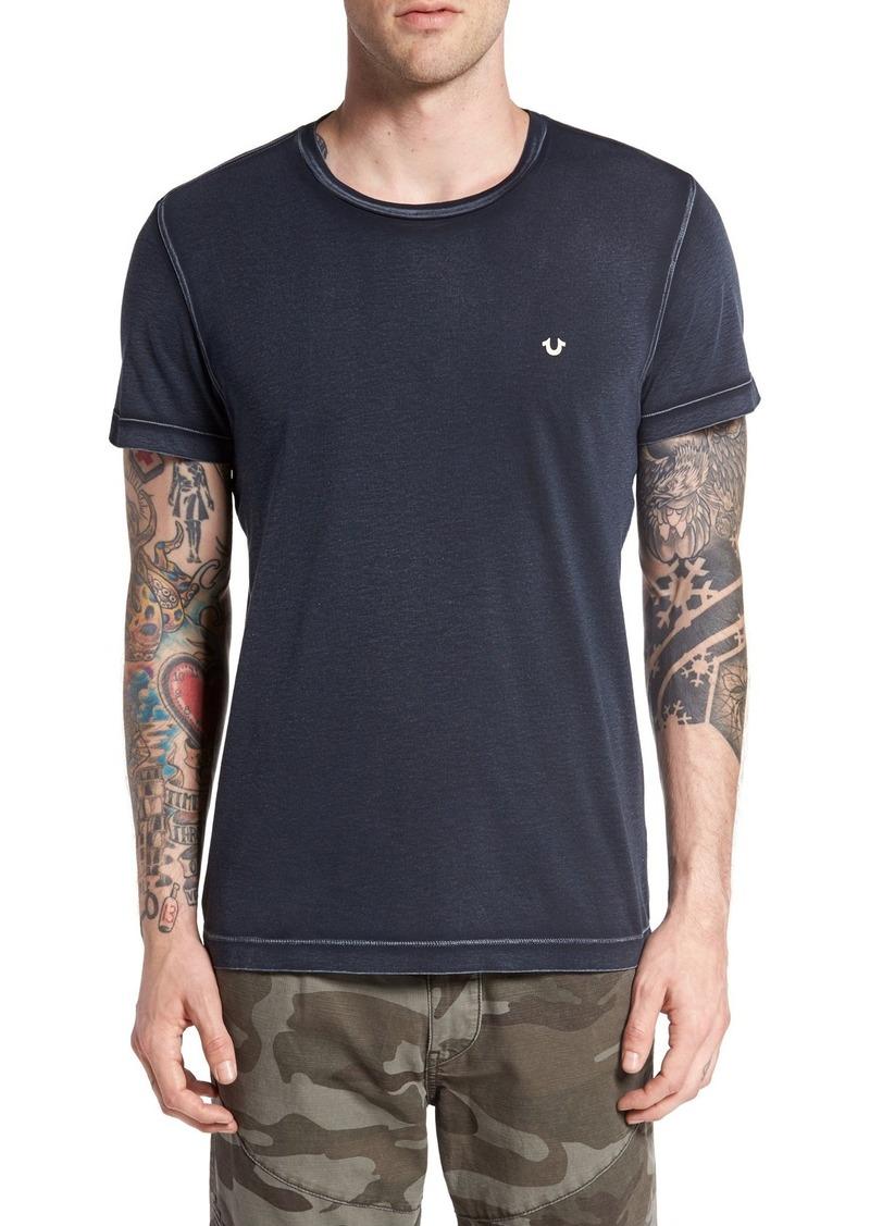 True Religion Brand Jeans Acid Wash Crewneck T-Shirt