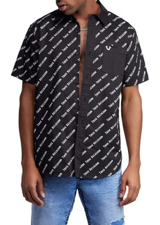 True Religion Brand Jeans All Over Woven Shirt
