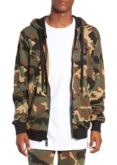 True Religion Brand Jeans-Big T Camo Zip Hoodie
