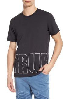 True Religion Brand Jeans Brick Logo Graphic T-Shirt