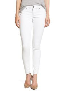 True Religion Brand Jeans 'Casey' Flap Pocket Skinny Jeans (Optic White)