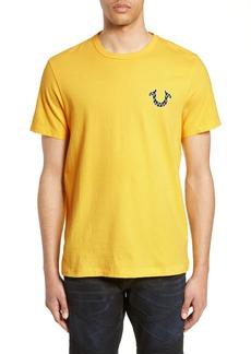 True Religion Brand Jeans Chevron Buddha Puff Print Shirt