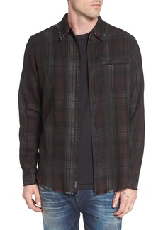 True Religion Brand Jeans Coated Punk Woven Shirt