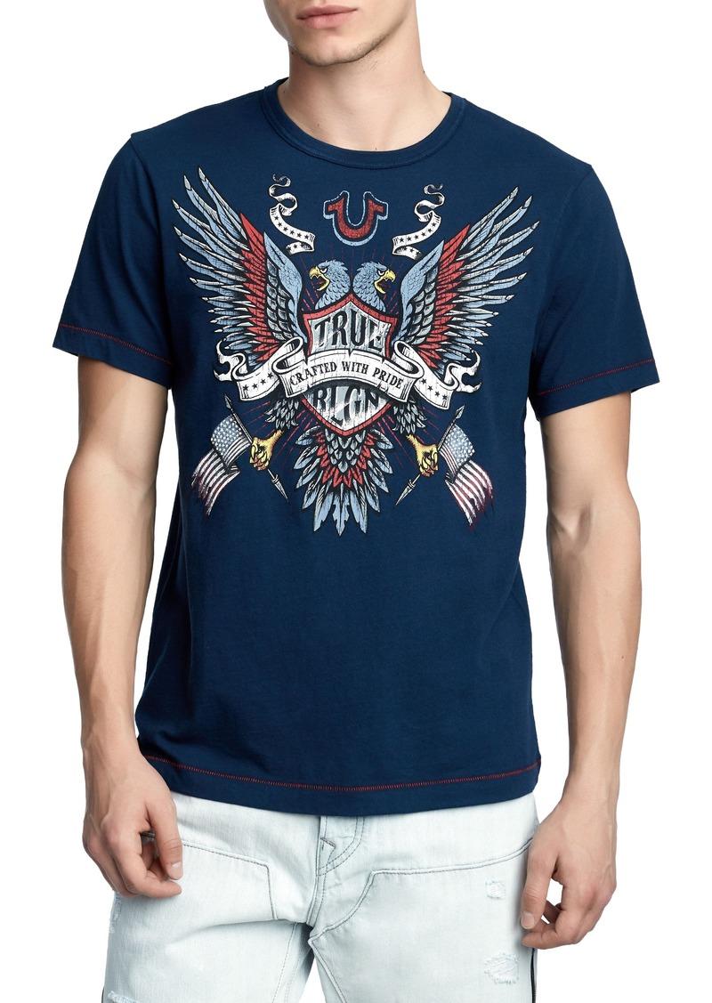 45337cab77 SALE! True Religion True Religion Brand Jeans Crafted Eagle T-Shirt