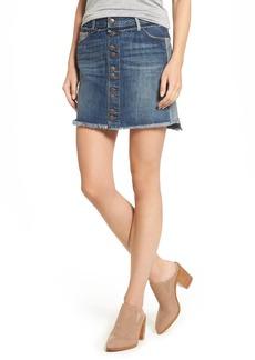 True Religion Brand Jeans Deconstructed Denim Skirt