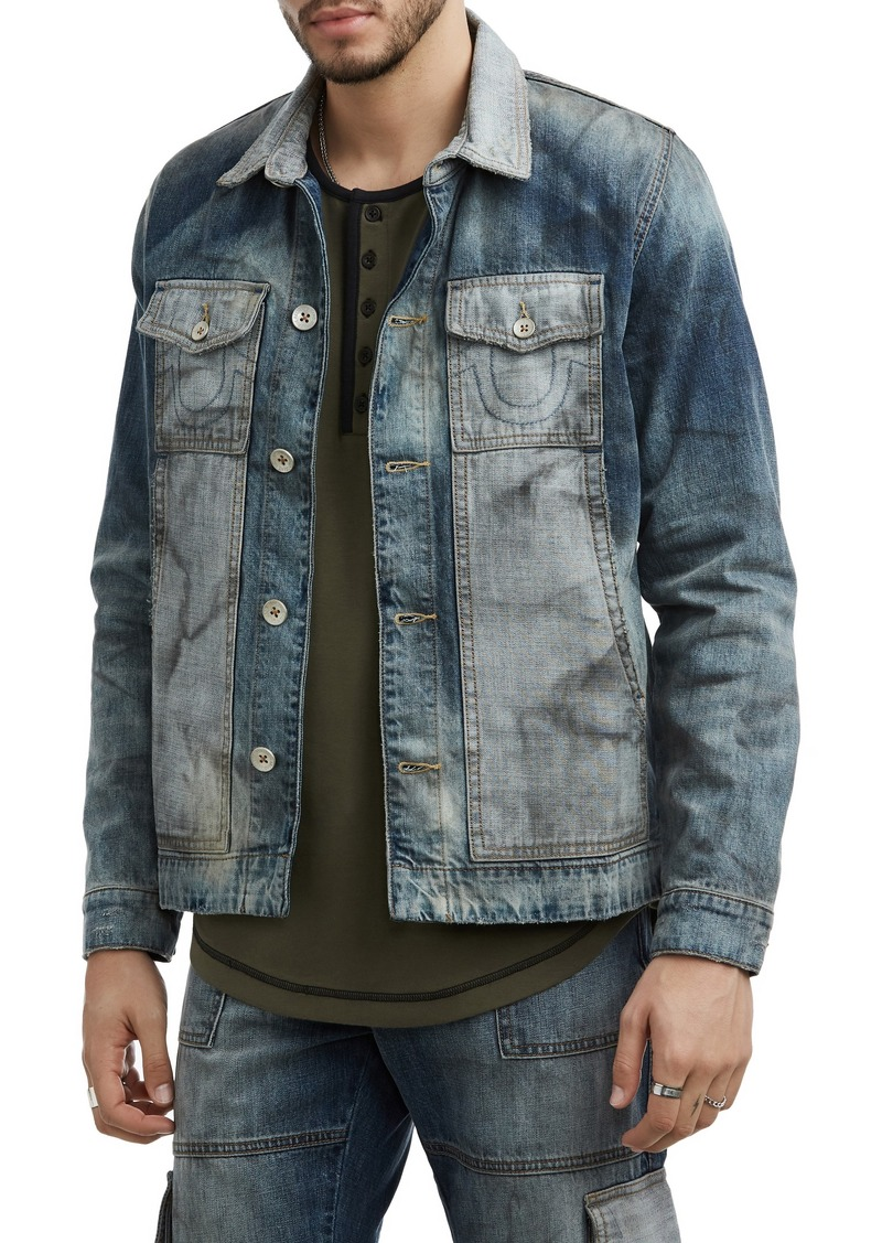 True Religion Brand Jeans Denim Utility Jacket