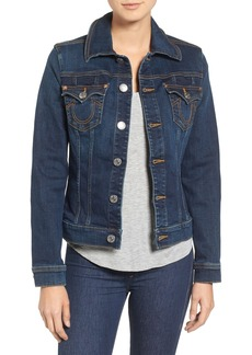 True Religion Brand Jeans Dusty Western Trucker Denim Jacket