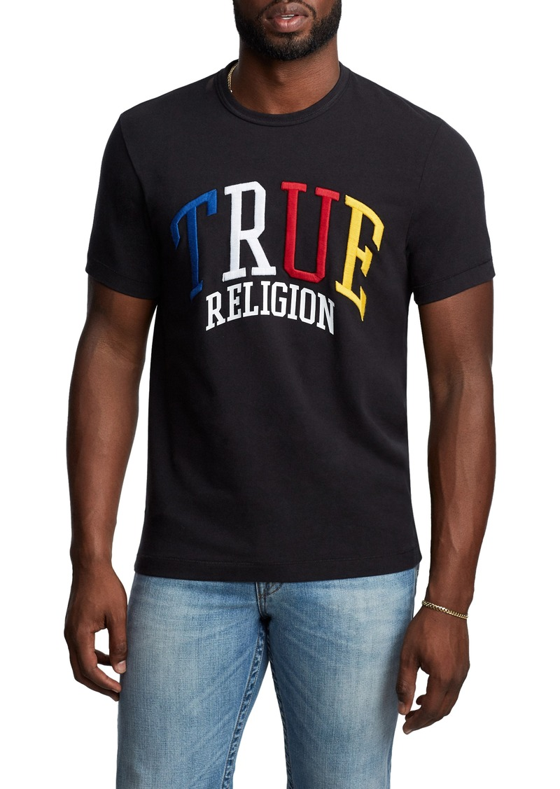 True Religion Brand Jeans Embroidered Logo T-Shirt