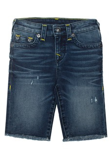 True Religion Brand Jeans Geno French Terry Cutoff Shorts (Toddler Boys & Little Boys)
