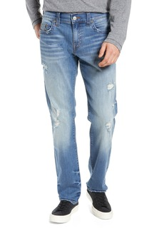 True Religion Brand Jeans Geno Straight Leg Jeans (FQTM Destroyed Meteor Storm)