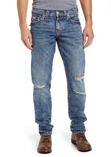 True Religion Brand Jeans Geno Straight Leg Jeans (Worn Blue Buff)