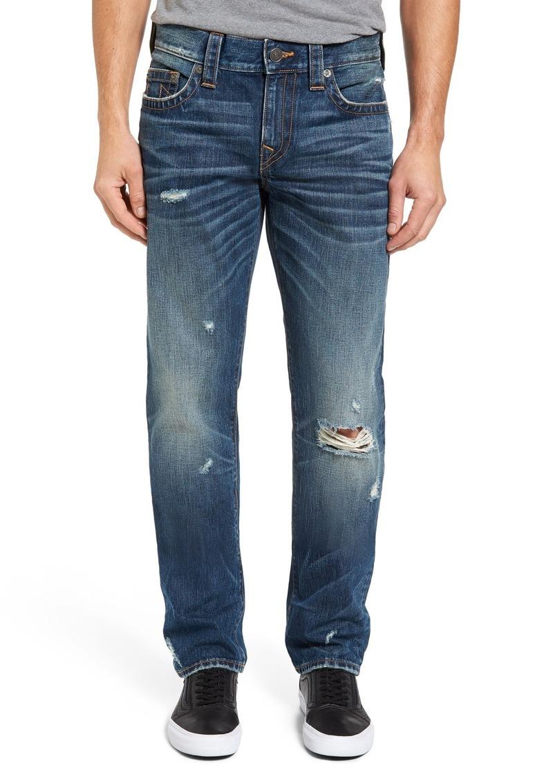 True Religion Brand Jeans Geno Straight Leg Jeans (Worn Mystic)