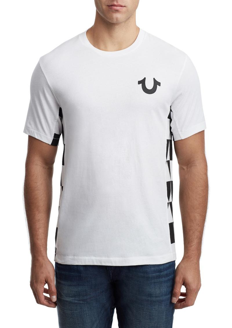 True Religion Brand Jeans Geo Inset T-Shirt