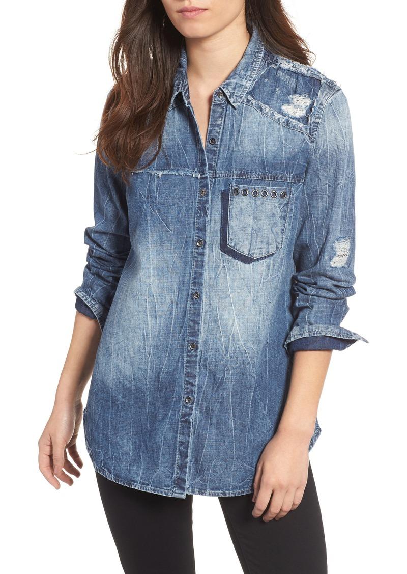 e9da6f9e5ea Blue Jeans Distressed Shirt - Gomes Weine AG