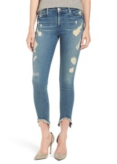 True Religion Brand Jeans Halle Ripped Crop Skinny Jeans (Nu Ripped Gypset)