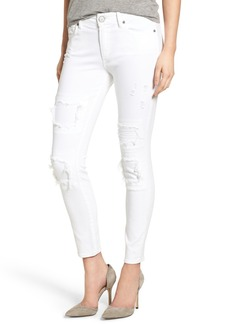 True Religion Brand Jeans Halle Skinny Jeans (Optic White Patch Ripped)