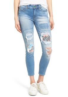 True Religion Brand Jeans Hallee Crop Rip & Repair Skinny Jeans (Blue Wonder)