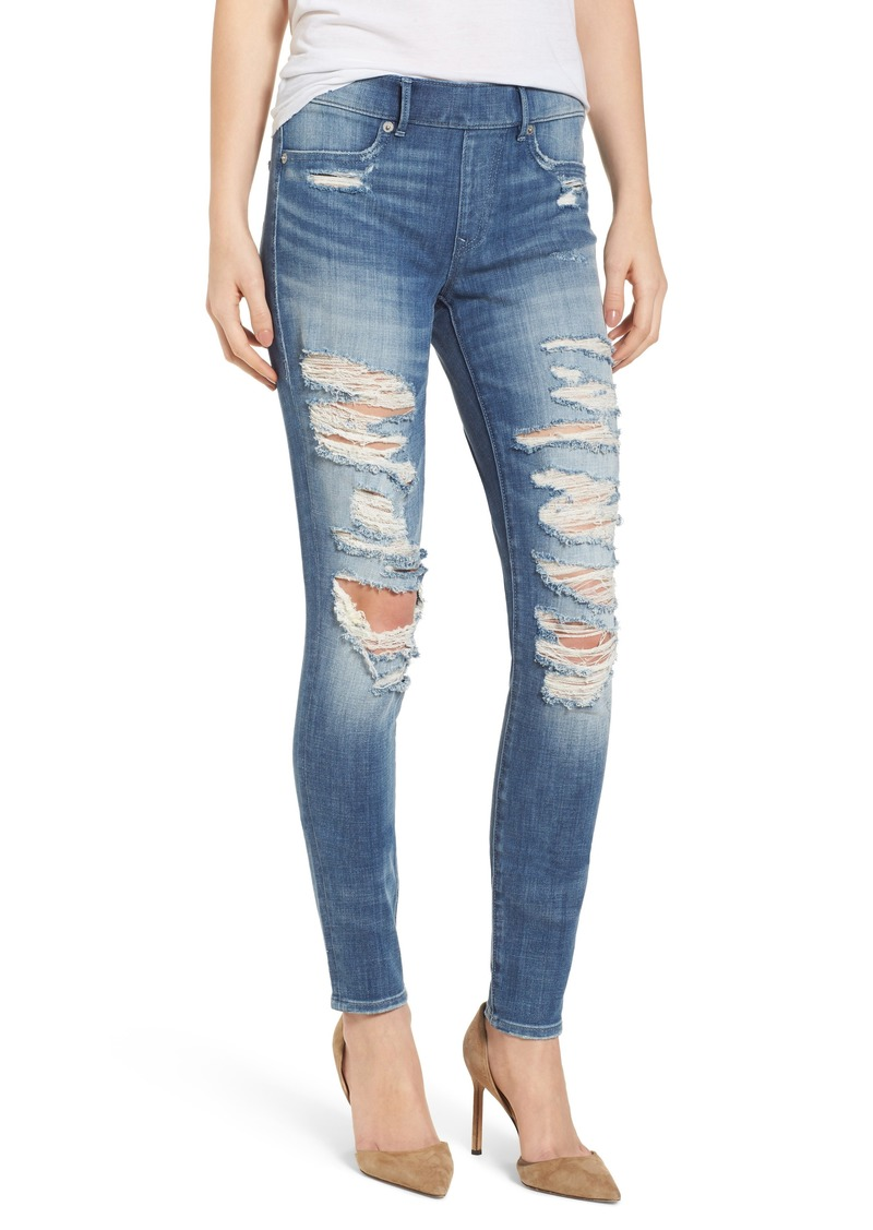 True Religion Brand Jeans Jennie Runaway Legging Washed Out Destroy
