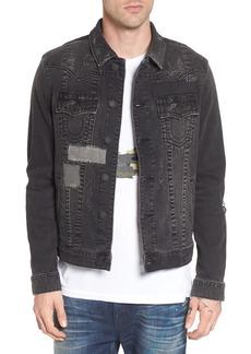 True Religion Brand Jeans Jimmy Mended Backstage Denim Jacket