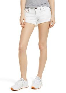 True Religion Brand Jeans Joey Cutoff Denim Shorts (1800 White)