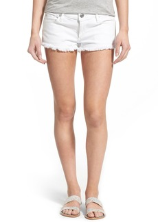 True Religion Brand Jeans 'Joey' Flap Pocket Cutoff Denim Shorts (Optic White)