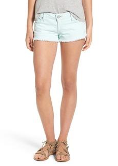 True Religion Brand Jeans 'Joey' Flap Pocket Cutoff Shorts (Seafoam)