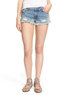 True Religion Brand Jeans Joey Flap Pocket Cutoff Shorts (Vintage True Destroyed)